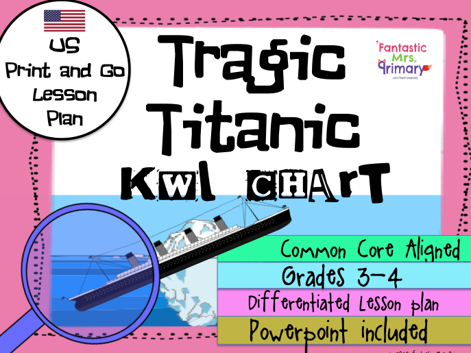 Tragic Titanic KWL Chart Lesson Plan (US Version)