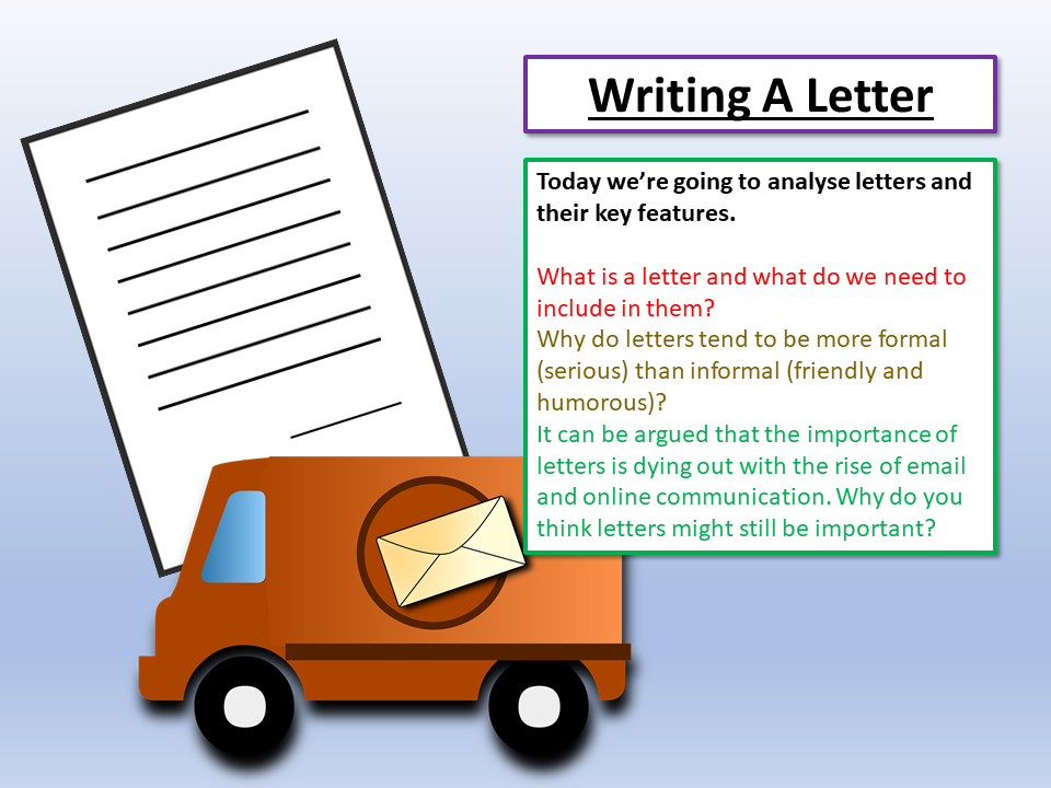 Letter Writing - Writing A Formal Letter