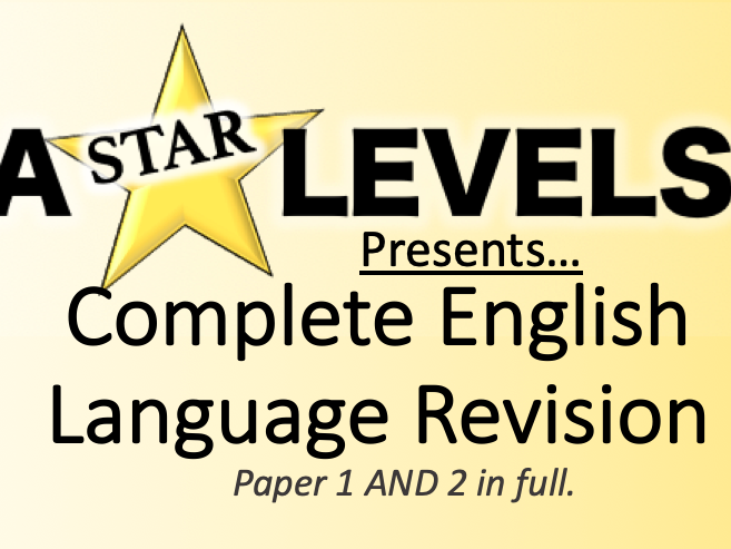 A Level English Language Revision