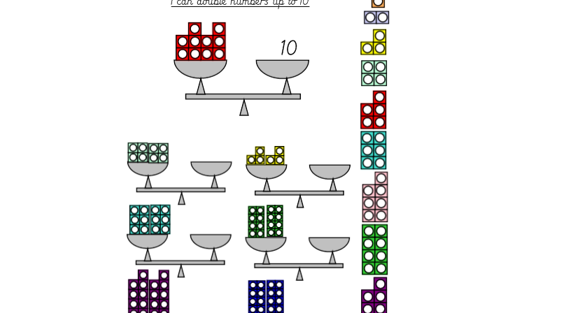 Numicon Doubling Lesson Pack