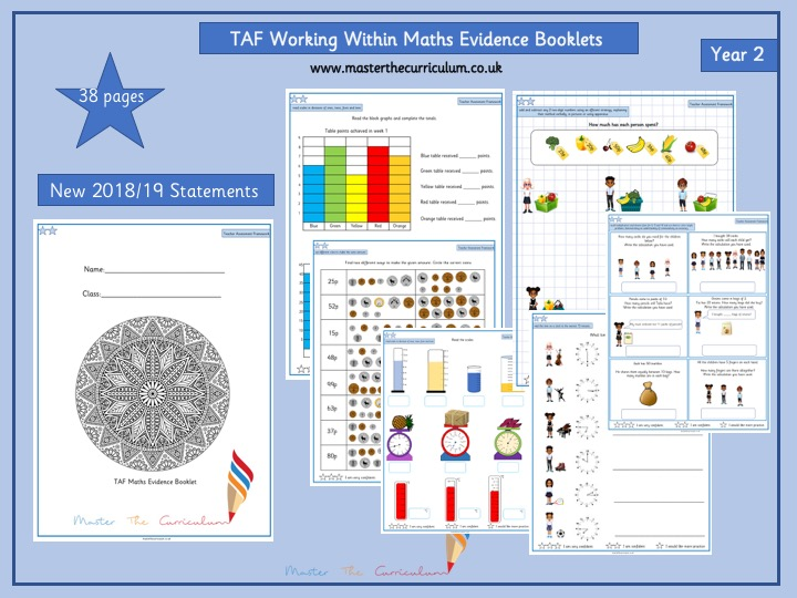 Year 2- Working Within TAF Evidence Booklet (Teacher Assessment Framework)