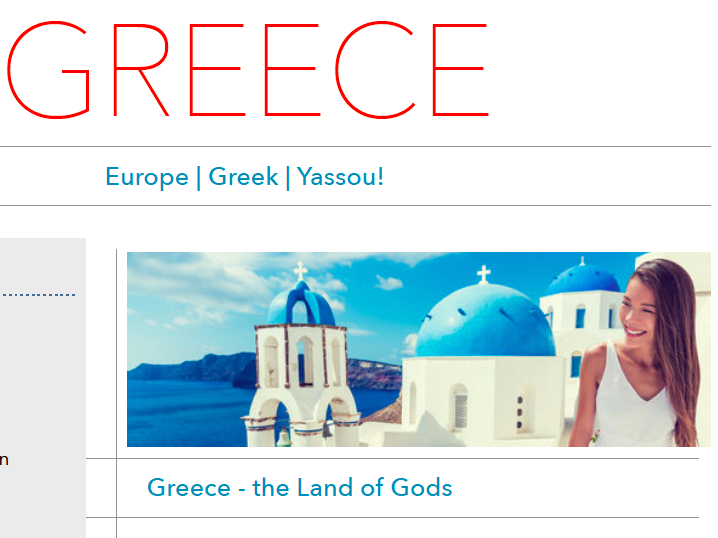 Discover Greece - Printable Worksheet