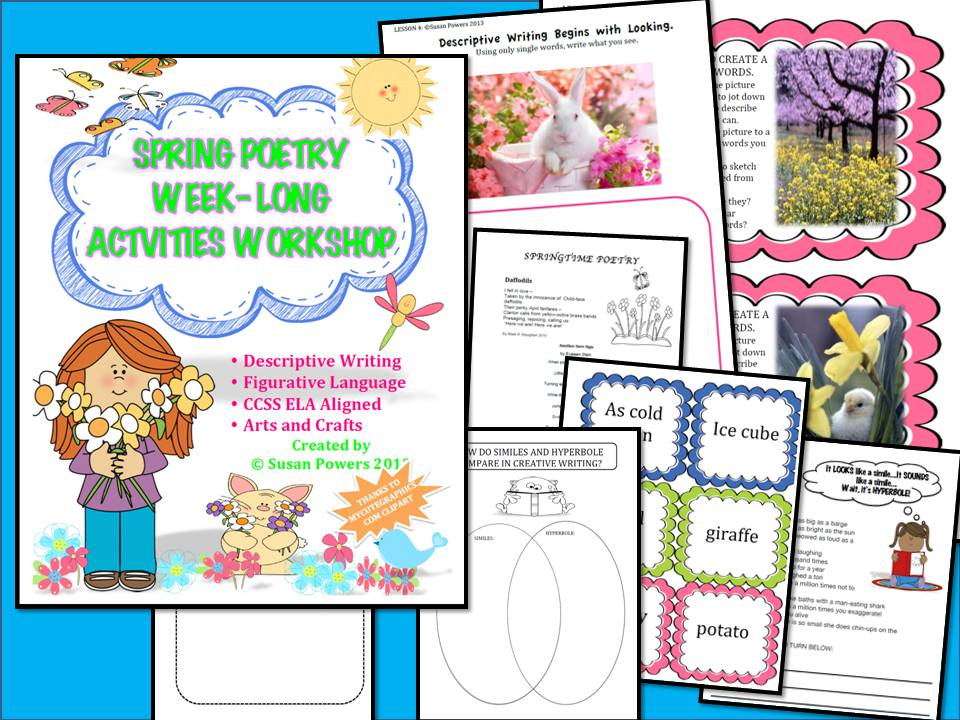 Spring Poetry Figurative Language Writing Workshop