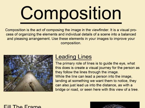 Photography & Art Composition Poster