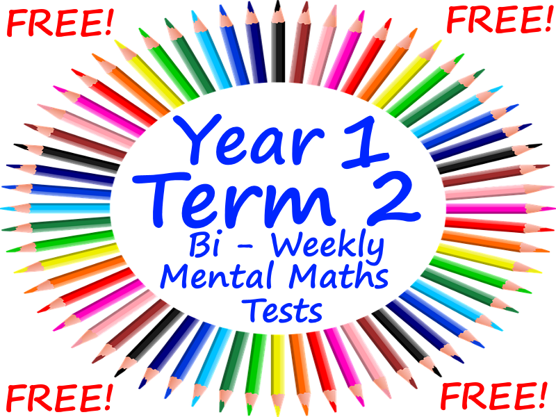 FREE Year 1 Mental Maths Test - Term 2 Resources