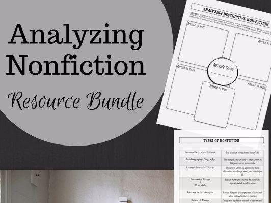 Nonfiction Resource Bundle- Graphic Organizers, Question Stems, & Charts