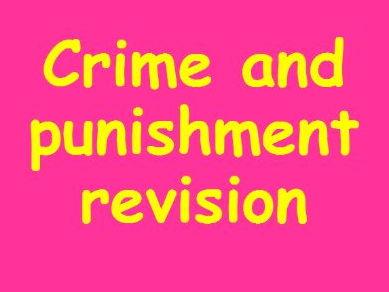 Edexcel Crime and Punishment Revision Unit 8