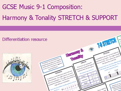GCSE Music 9-1 Composition: Harmony & Tonality Differentiation