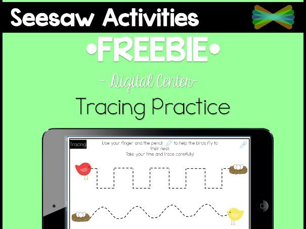 Seesaw Activities - *FREEBIE* - Tracing Practice by rebecca