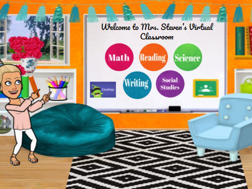 Bitmoji Virtual Classroom Template - Colorful