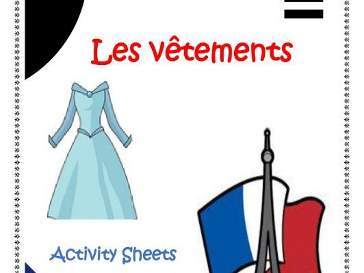 French Clothes Worksheets for Distance Learning