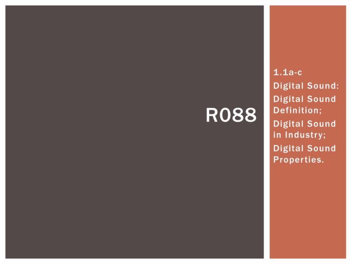 R088 - Creating a Digital Sound Sequence, Digital Sound [LO1.1], CAMNATS, Creative iMedia Lvls 1/2