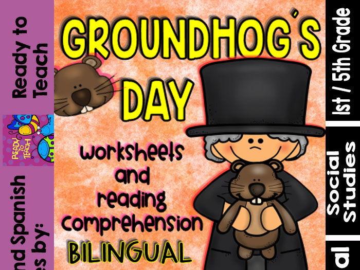Groundhog`s Day - Social Studies Centers - Bilingual Set