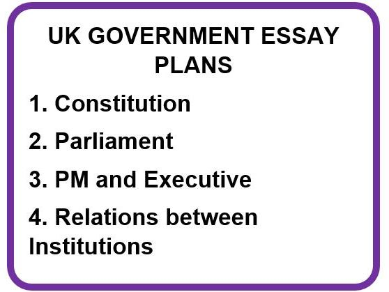 UK GOVERNMENT ESSAY PLANS
