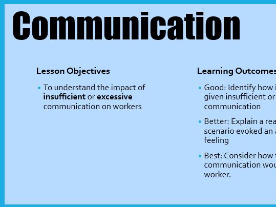 Edexcel GCSE Business Communication