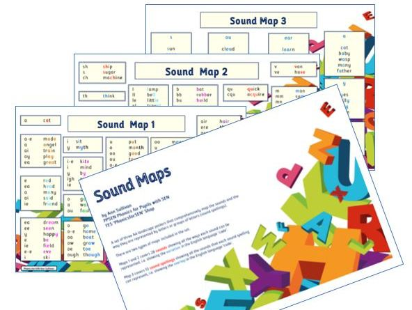Sounds Maps - Posters of the sounds and their graphemes