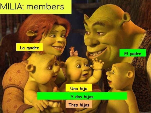 Family intro in Spanish