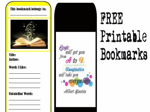 photo regarding Free Printable Bookmarks With Quotes named No cost Printable Vocabulary Bookmark with Inspirational Offers