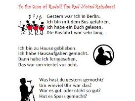 German past tense song lyrics