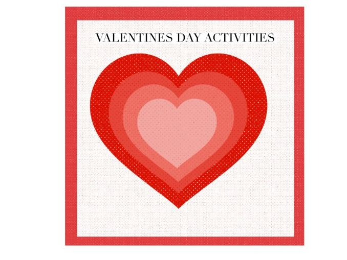 Cut and Paste Valentines Day Activities