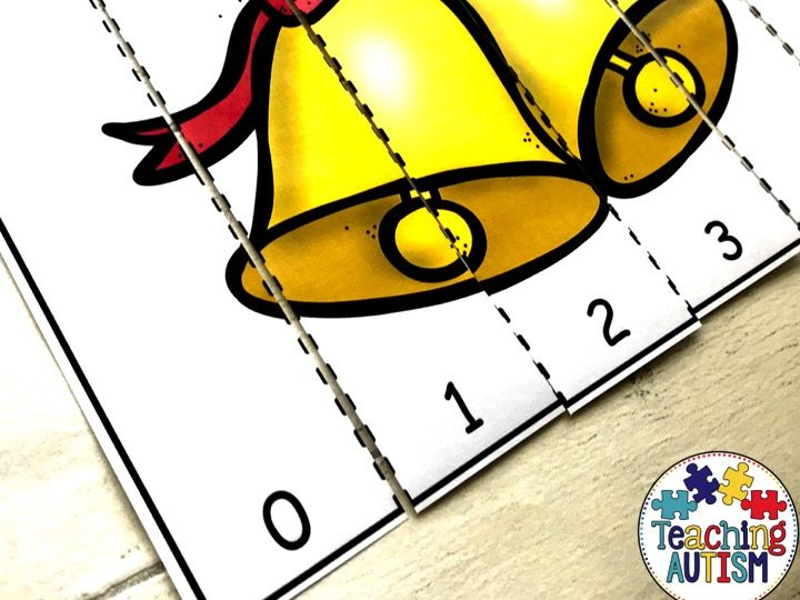 Christmas Number Puzzles Counting to 10
