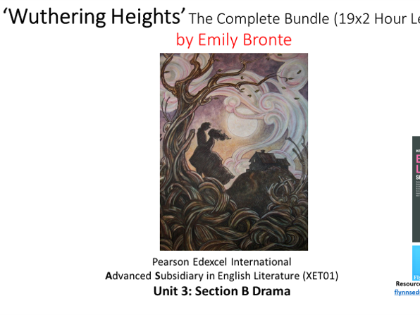 A Level Literature: 'Wuthering Heights' – Complete Bundle (19x2 Hour Lessons)