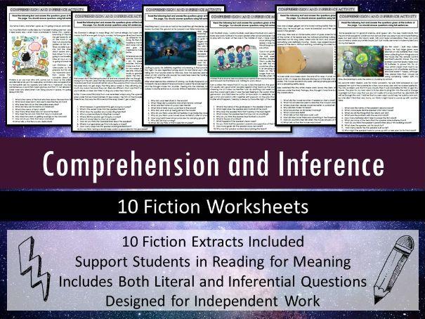 Comprehension and Inference Worksheets (SEN/ Intervention)