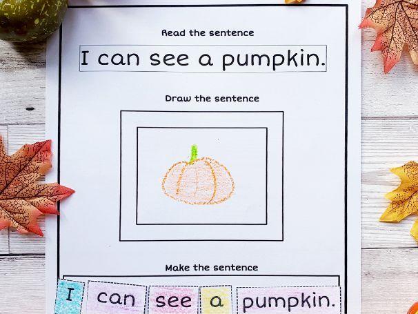 Autumn 'Read, Draw & Make' a sentence
