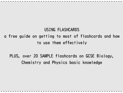 Using flashcards  [+ SAMPLE flashcards]