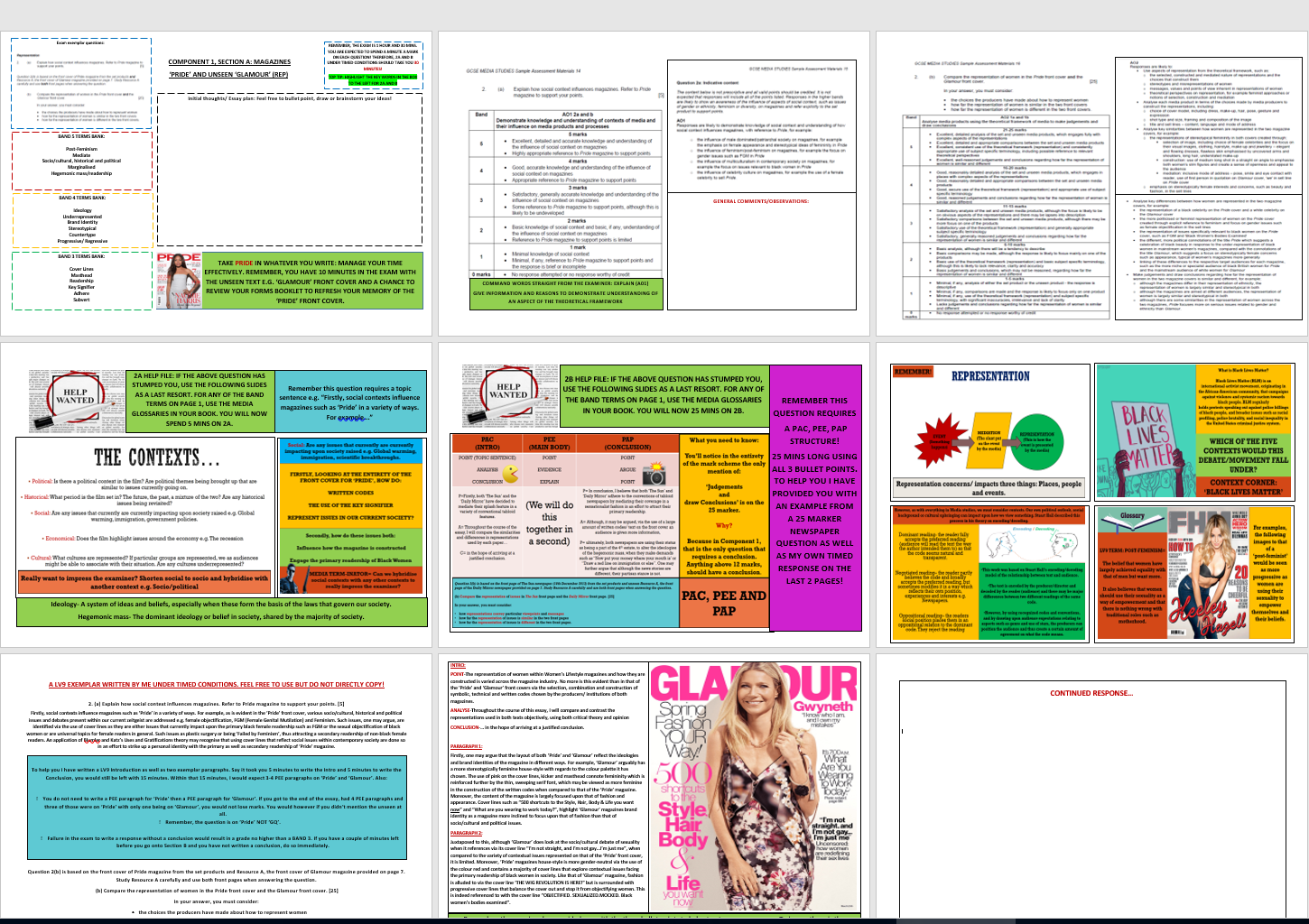 THE COMPLETE GCSE COMPONENT 1 EDUQAS MASTERY SHEET BUNDLE