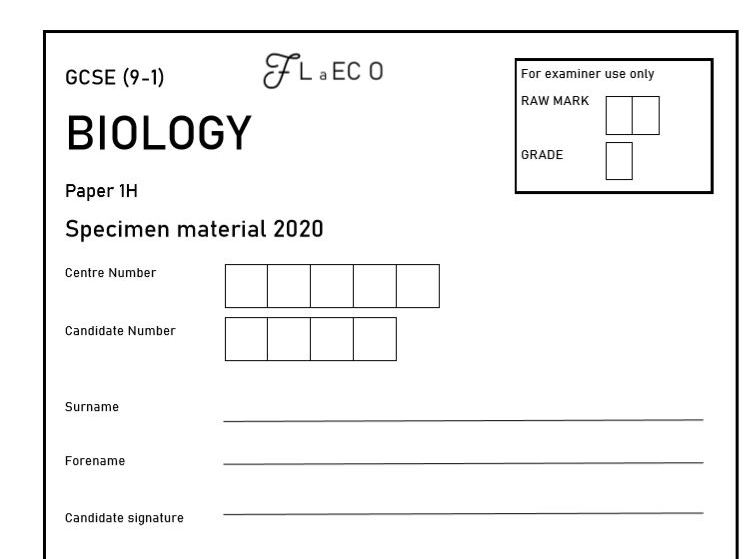 GCSE (9-1) [NEW] Biology Practice Paper 1H