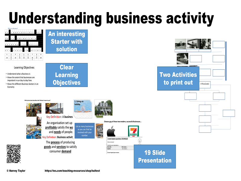 GCSE Business Full Lesson - Understanding business activity / What is Business? - introduction class
