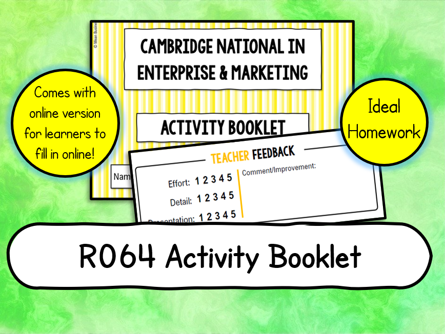 R064 LO2 Activity Booklet (PDF version AND PPT to Complete Online)