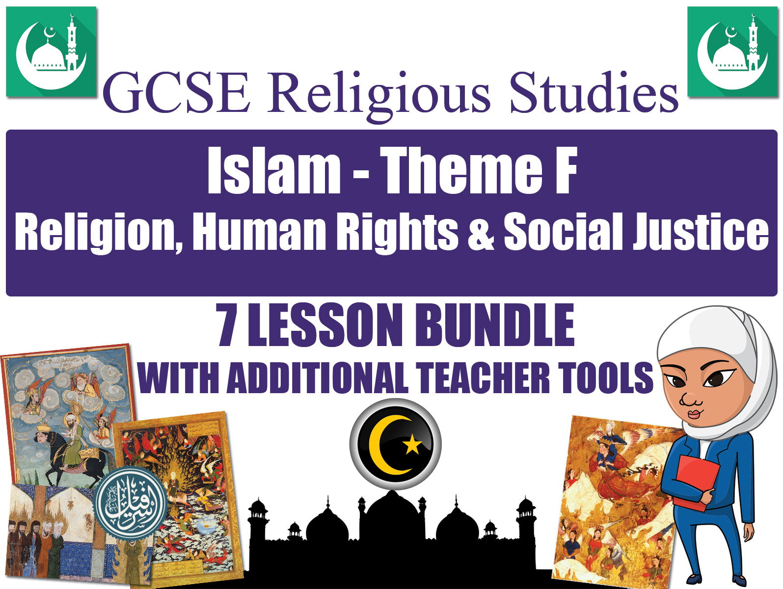 GCSE Islam  - Religion, Human Rights & Social Justice (7 Lessons)