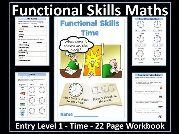 Functional Skills Maths - Entry Level 1 - Time