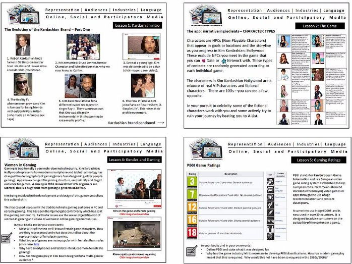 Kim Kardashian Hollywood GCSE Media Studies Close Study Product CSP Online Social and Participatory