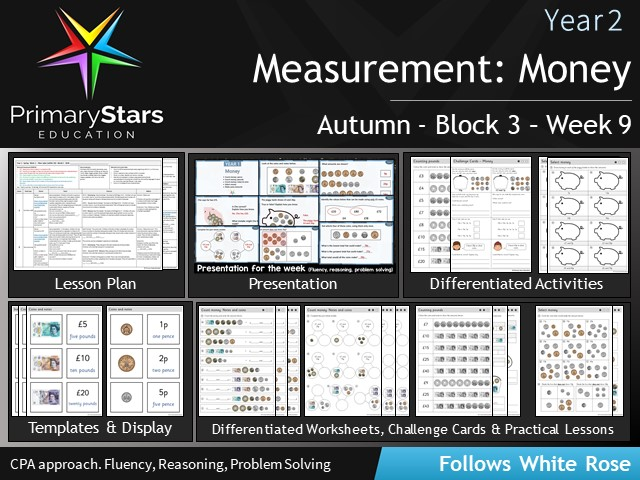 YEAR 2 - Money Measure - White Rose - WEEK 9 - Block 3 - Aut - Differentiated Planning & Resources