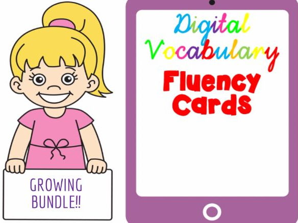 Digital Fluency Vocabulary Cards. GROWING BUNDLE!!!!!!!!!!