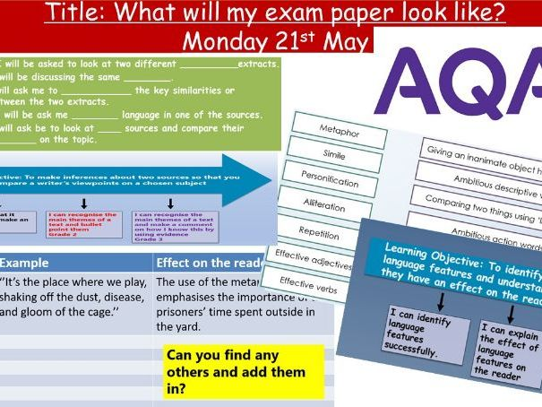Differentiated Mini Mock: AQA Lang Paper 2