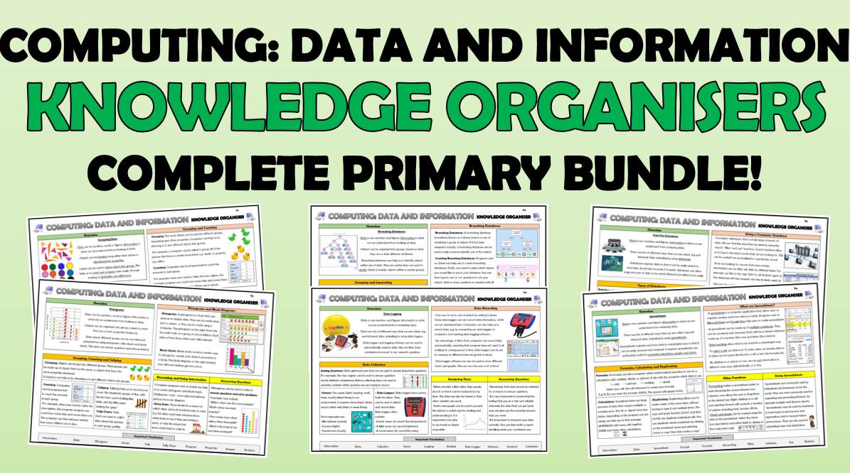 Computing Data and Information - Primary Knowledge Organisers Bundle!