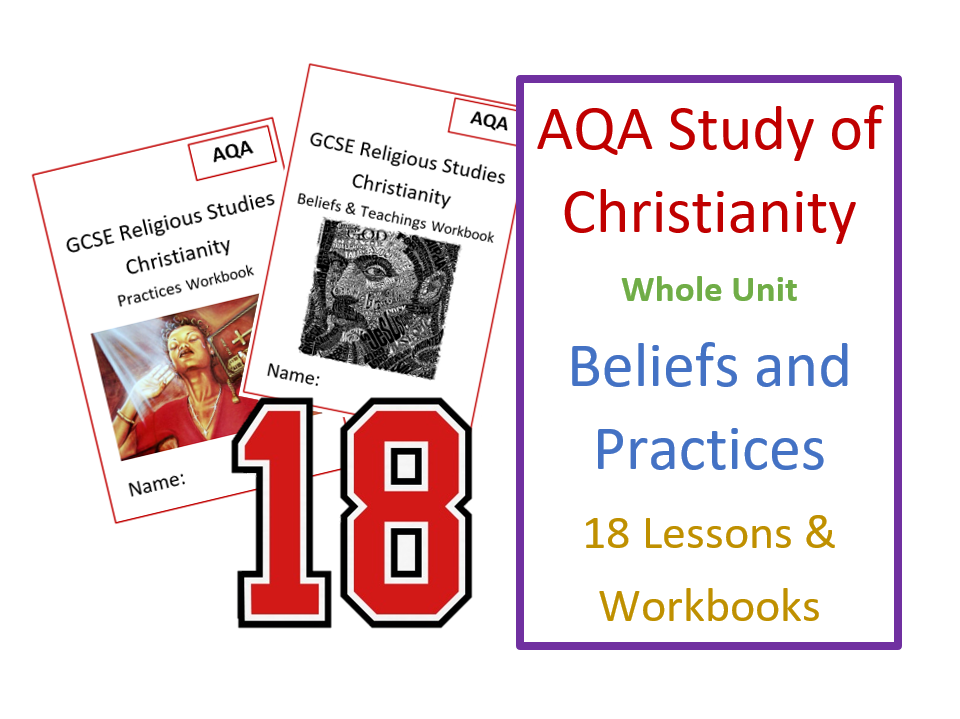 GCSE RS Study of Christianity - Whole Unit of Lessons and Revision Workbooks