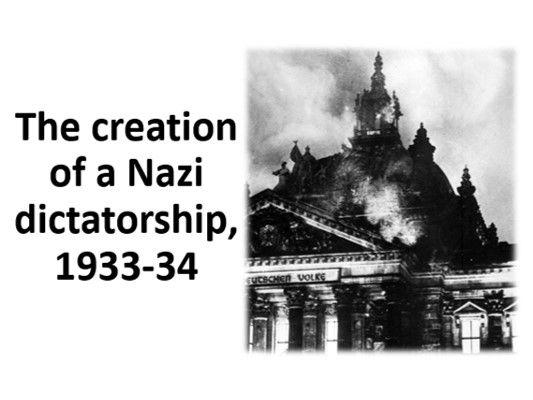 The creation of a Nazi dictatorship, 1933-34