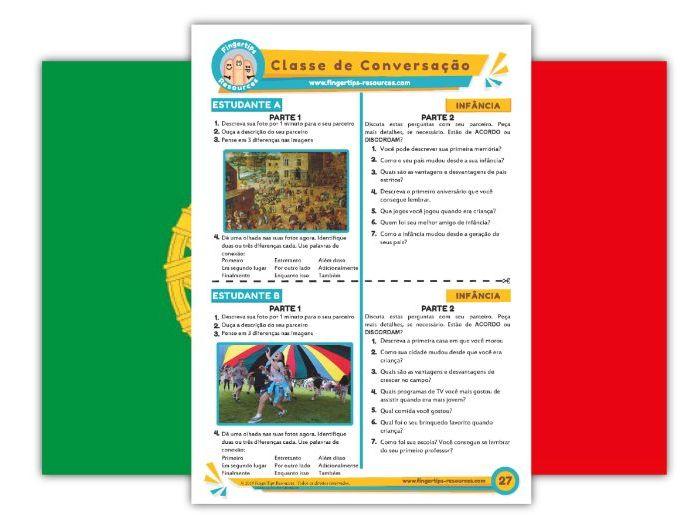 Infância - Portuguese Speaking Activity
