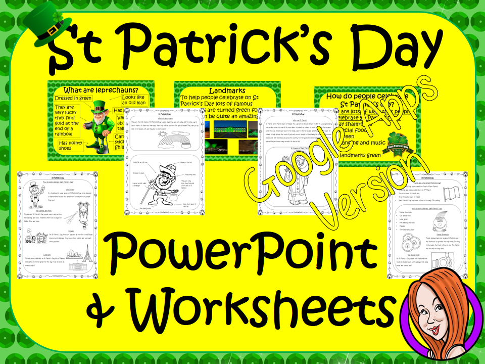 Distance Learning St Patrick's Day Google Slides Lesson
