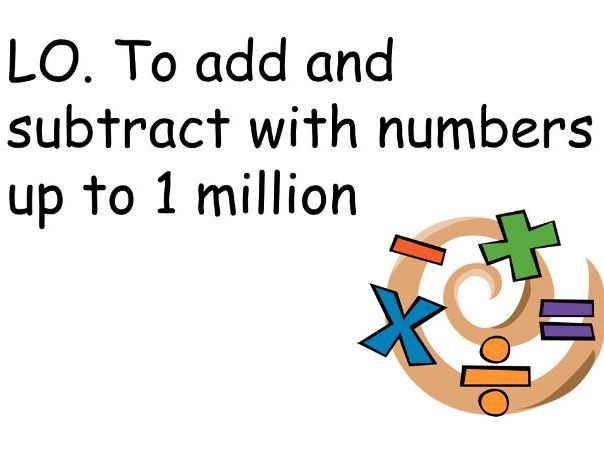 Addition and Subtraction to 1 million