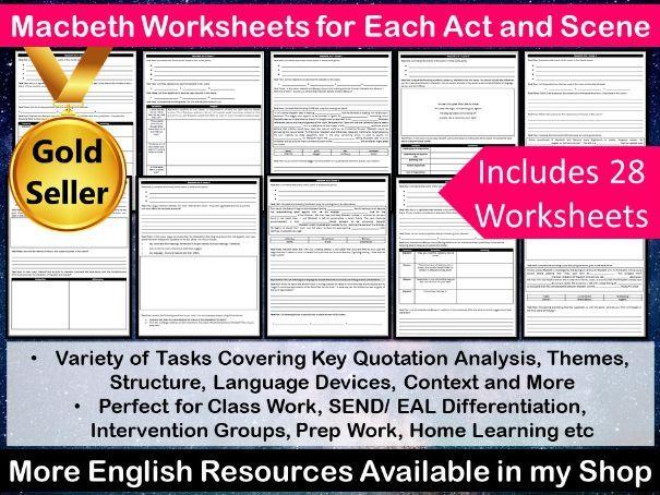 Macbeth Worksheets