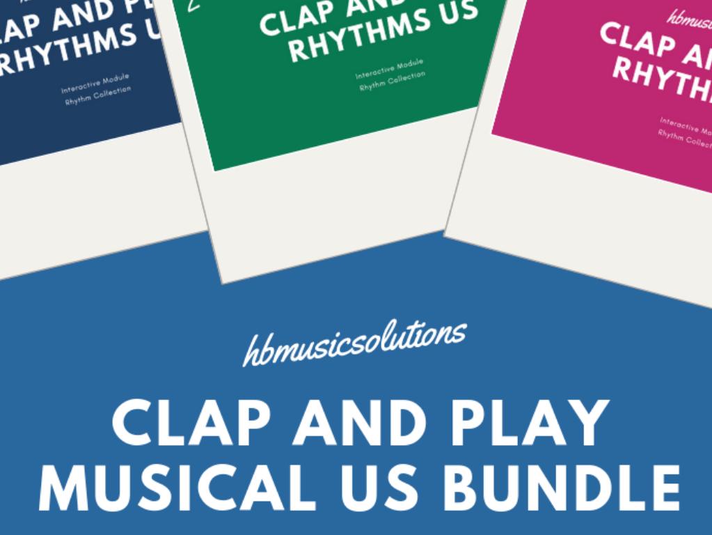 Clap And Play Rhythms Levels 1-3 US Version Bundle
