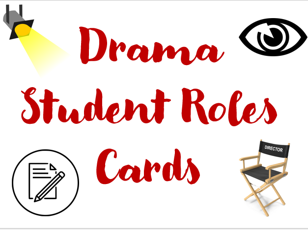 Drama Student Role Cards for Differentiation