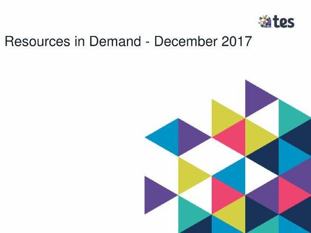 Resources in Demand - December 2017