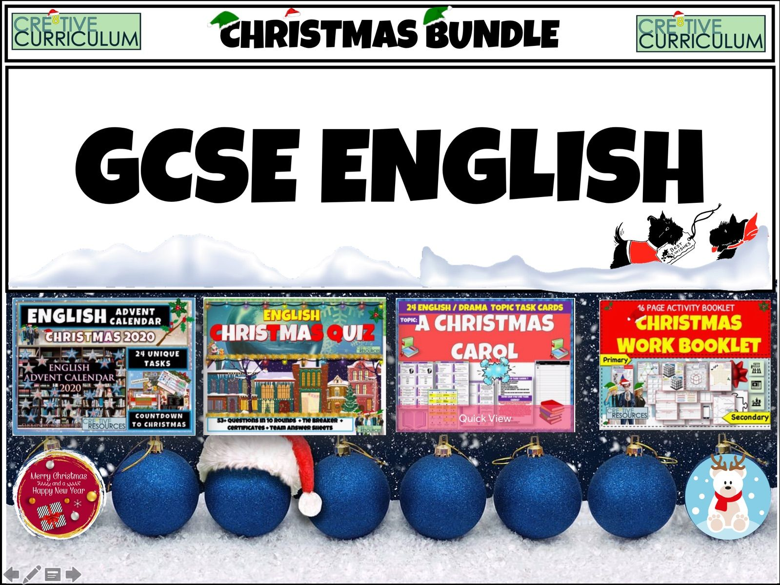 GCSE English Christmas Bundle